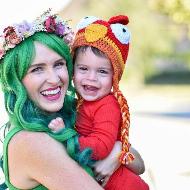 Te Fiti and Hei Hei Moana family costume