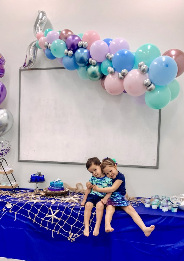 Easy Joint Birthday Party Theme: Sharks and Mermaids!