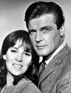 "With Roger Moore in ""The Saint"""