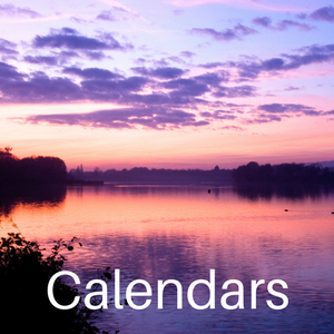 Calendar title photo, purple sunset at Chipstead Lake, photo by Jane Mucklow Photography