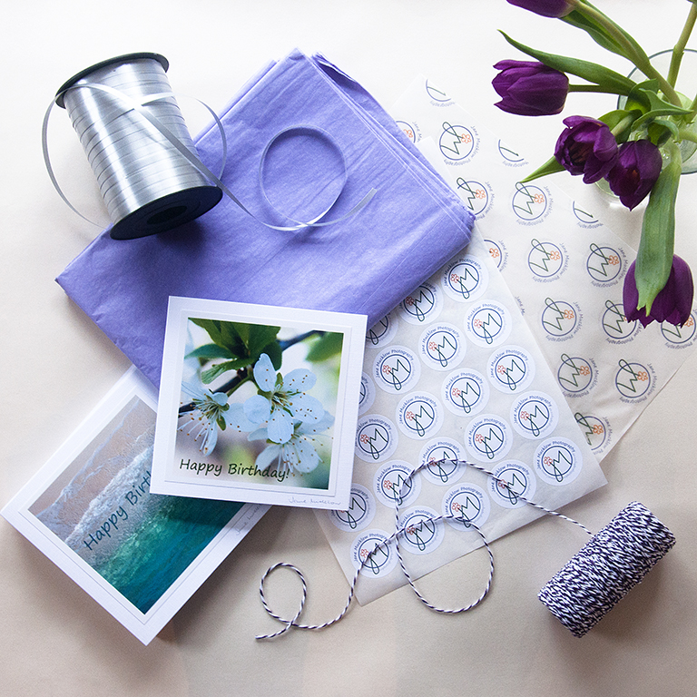 Birthday cards and packaging photo by Jane Mucklow