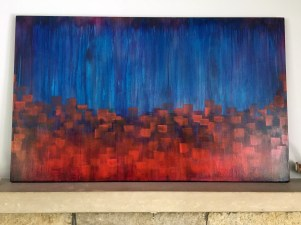 Moods, acrylic, 46 x 28 inches, commissioned
