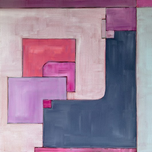 Geometry Series, #4, acrylic, 20x20 inches