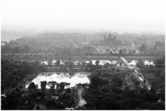 View of Angkor Wat from the balloon