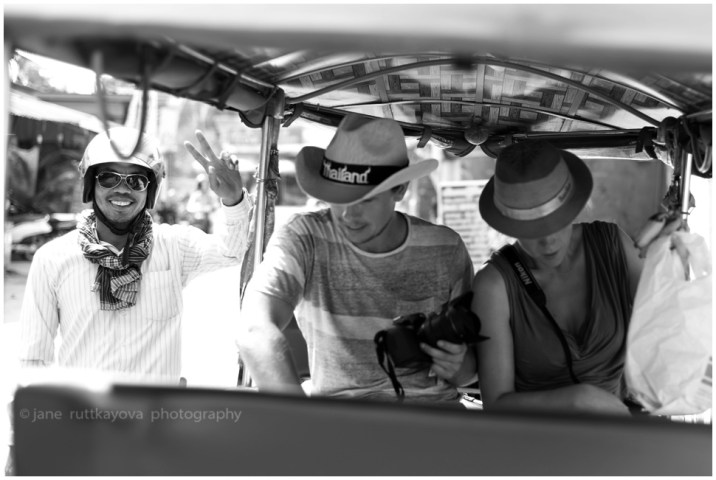 Our tuk tuk driver (on the left)