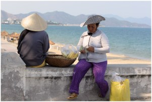 Local women selling on the beach