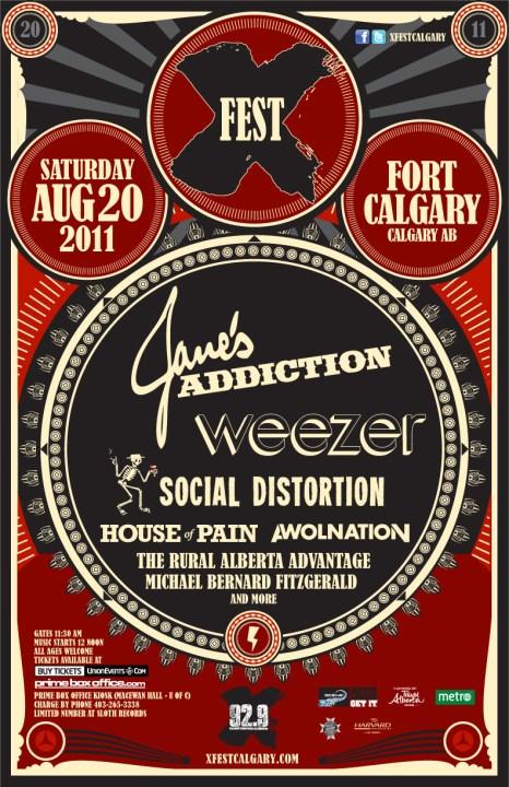 Janes Addiction To Headline X Fest In Calgary