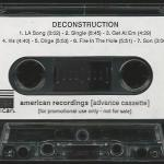 Deconstruction Advance Cassette Side 1