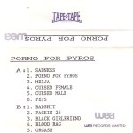 Porno For Pyros UK Promo Cassette