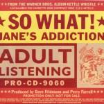 So What! Promo Slip Disc Cover