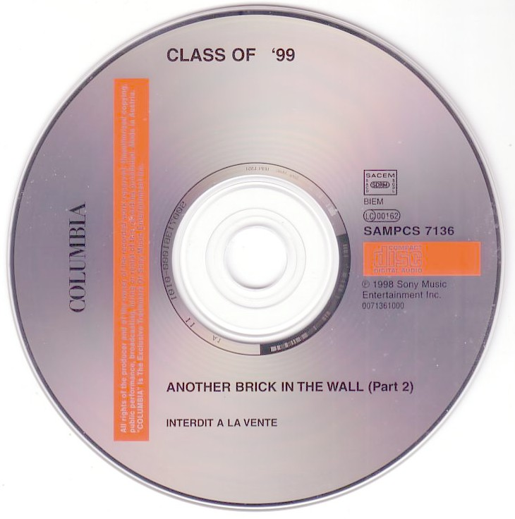 Class Of 99 Another Brick In The Wall Part 2