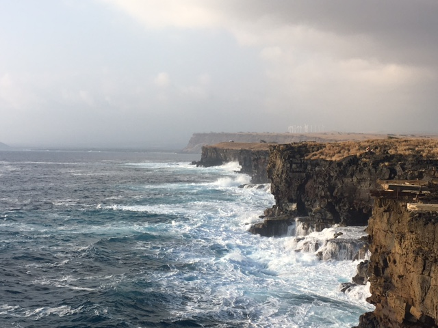 Southern cliffs on the Big Island, Hawaii
