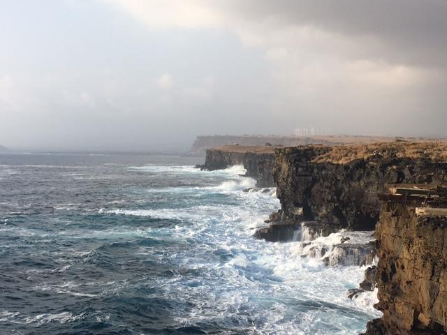 Southern cliffs on the Big Island, Hawaii
