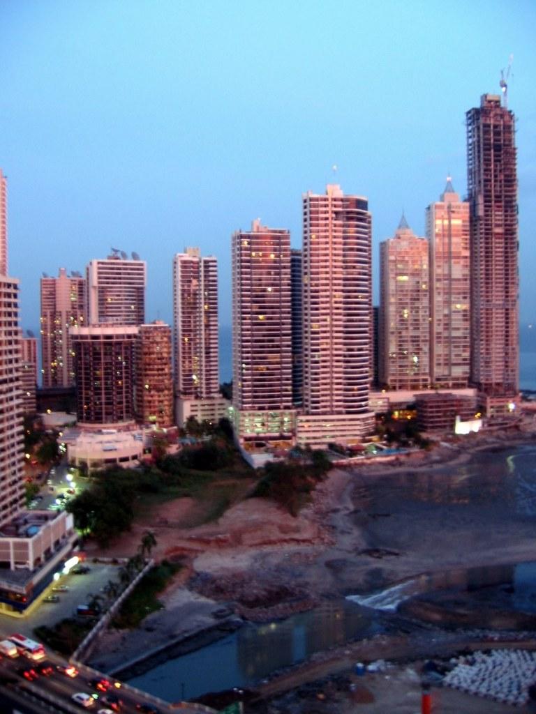 Panama City Skyline at Sunset