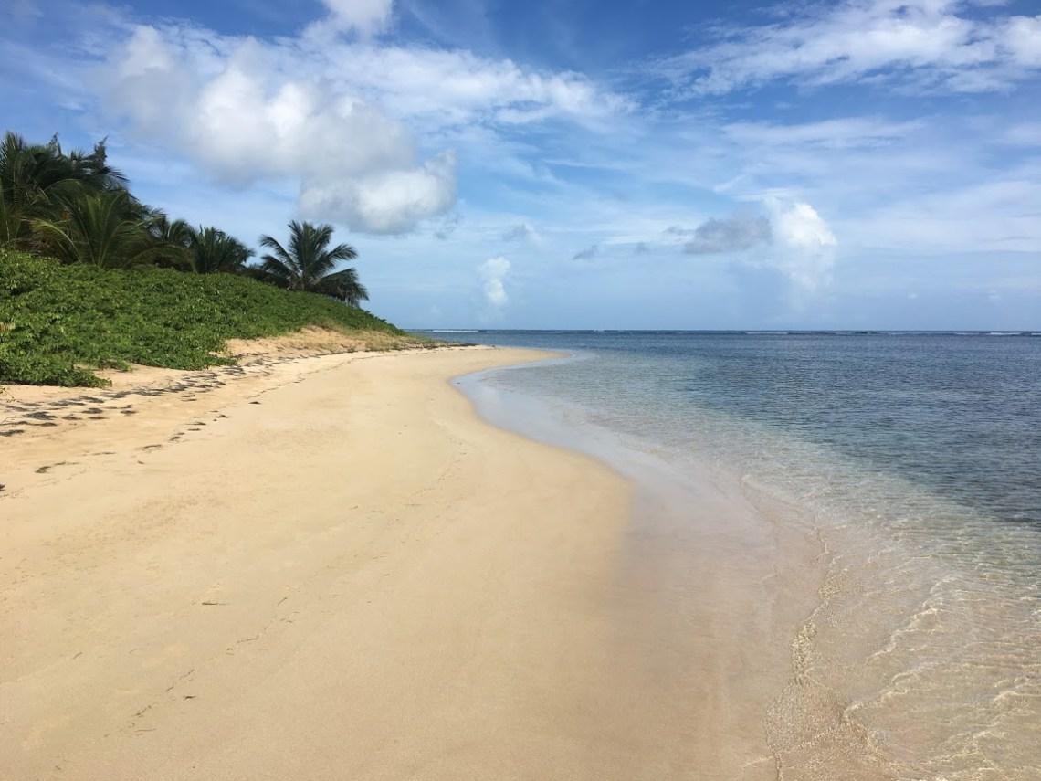Empty beach on Puerto Rico.