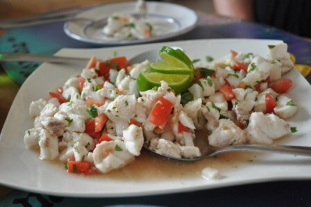 ceviche Cozumel Mexico tourists travel vacation