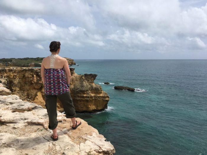 Cliffs in Cabo Rojo Puerto Rico