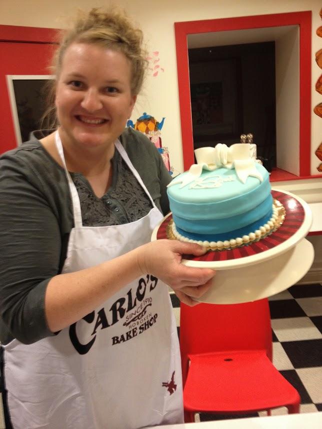 Cake decorating class Carlo's Bake Shop fun work trips