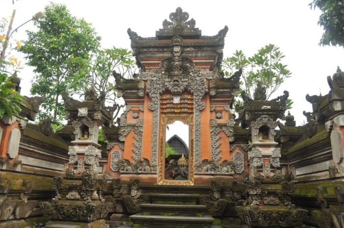 Comparison Ornate Doorway Bali Indonesia