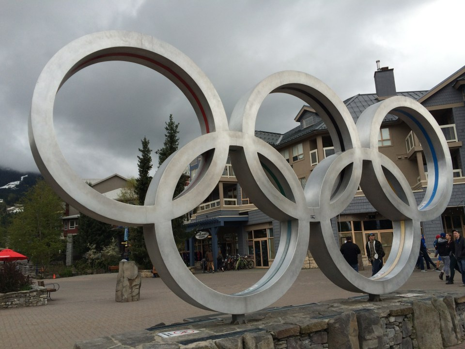 The Olympic rings from 2010 at Whistler