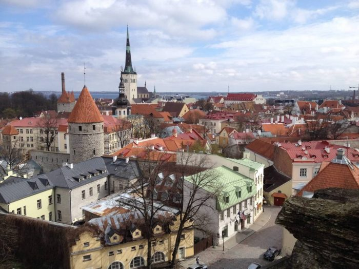 View of Old Town Tallinn Estonia