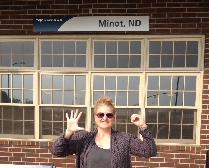 Minot, North Dakota train station