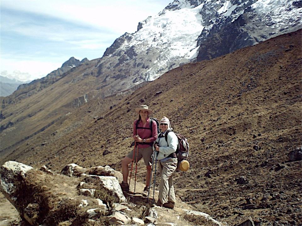 Hiking Salkantay trail Peru travel shoes for women