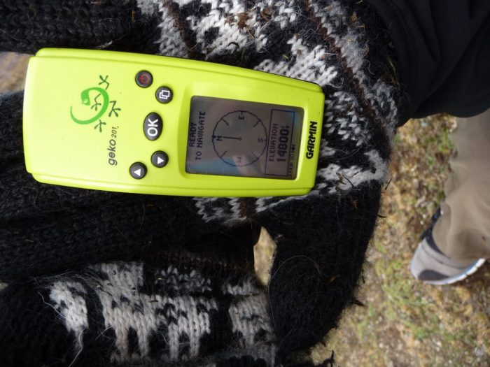 Altimeter hiking in the Inca Trail