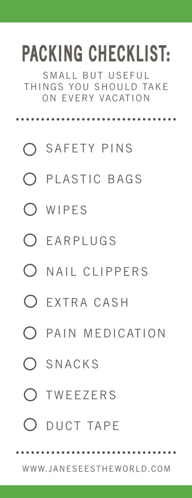 free printable, small item packing checklist, travel checklist