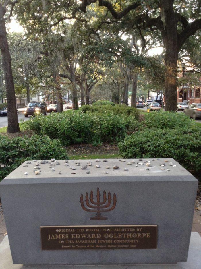 Oglethorpe monument in Savannah Georgia all 50 states club part 1 USA travel