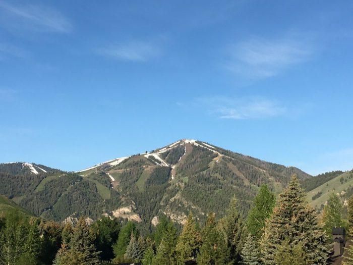 Bald Mountain in the spring Ketchum Idaho