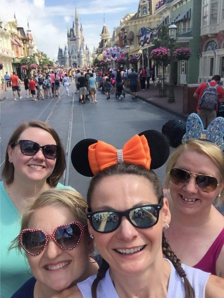Main Street USA Disney World adult friends