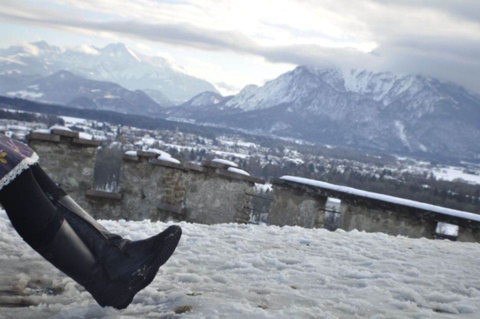 Winter boots and the Alps