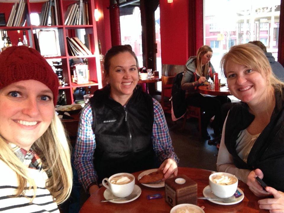 Enjoying hot chocolate in Iceland