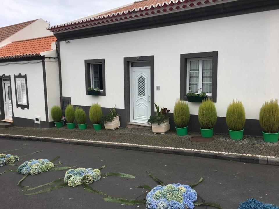 Airbnb, Azores, religious festival, parade, white house