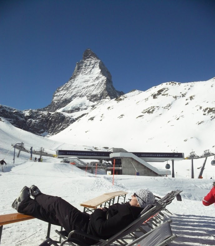 snow skiing in Zermatt