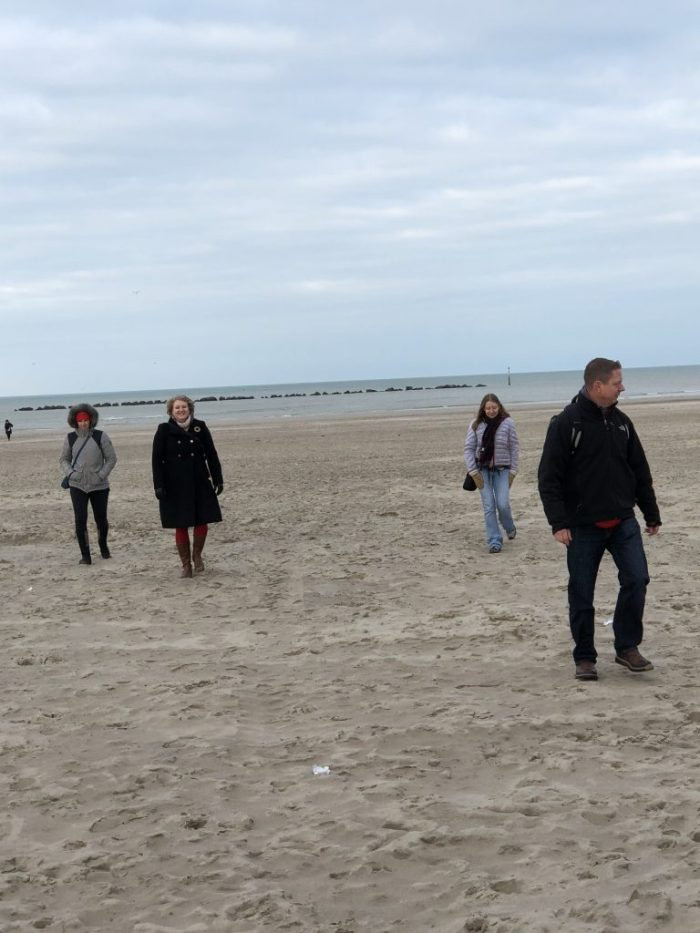 Beach Dunkirk France December