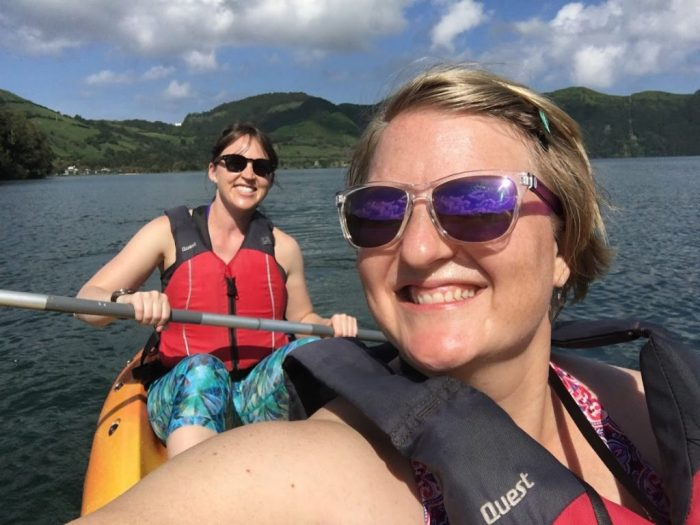 Affordable travel clothes for women kayaking Azores