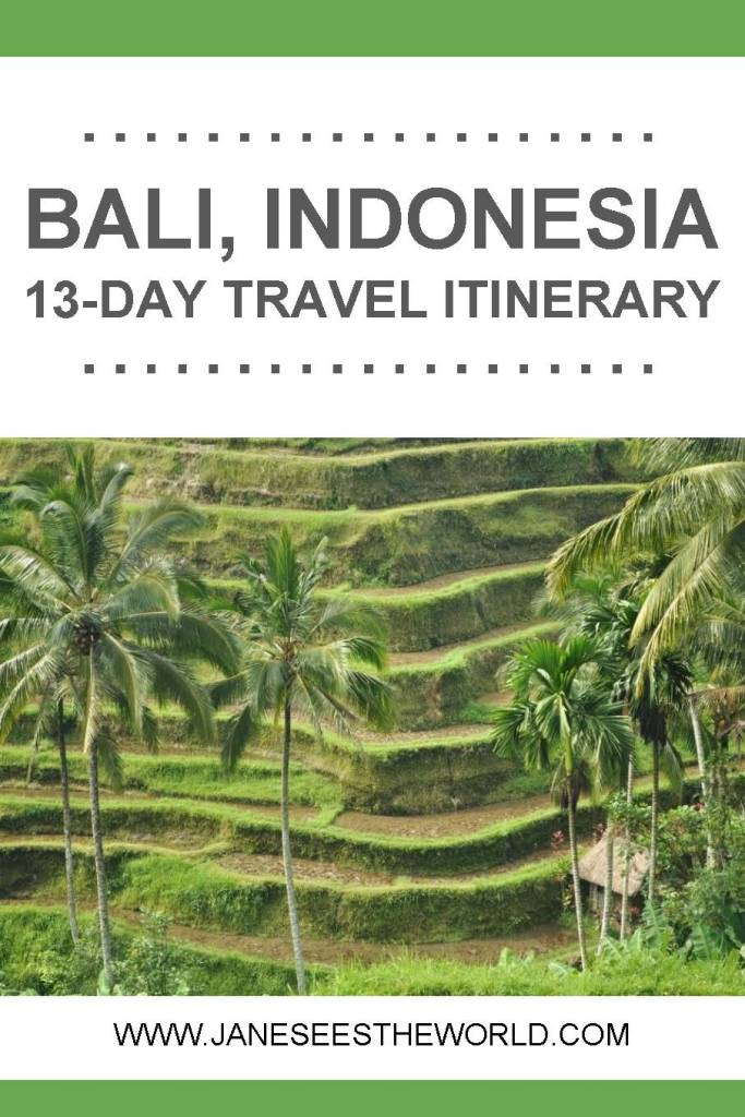 Bali Indonesia itinerary travel vacation rice terraces