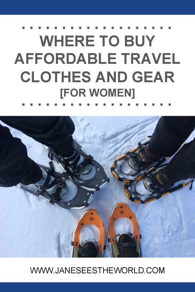 Affordable travel clothes for women snowshoeing vacation
