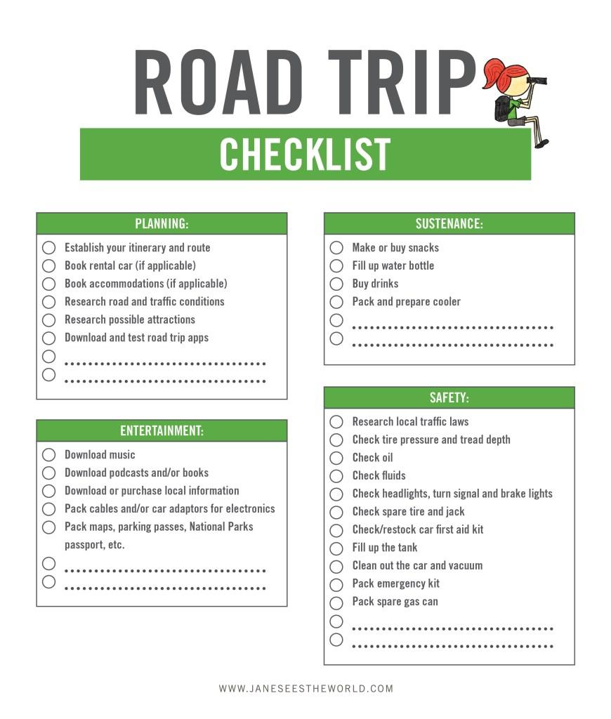 elements of a good road trip