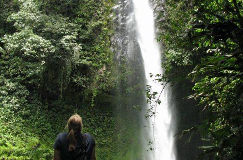 Taking in a waterfall