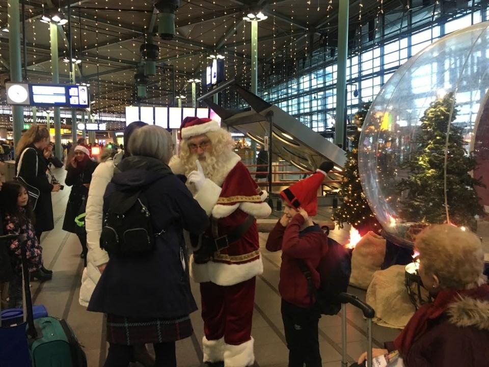 Christmas on the road Amsterdam Europe Santa