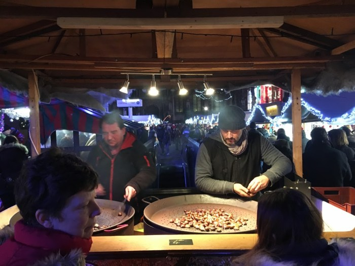 Christmas on the road Europe chestnuts