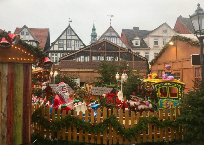 Santa Claus ride at a German Christmas Market