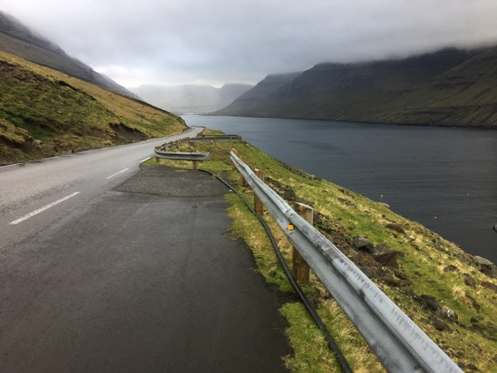 describe the Faroe Islands with clouds