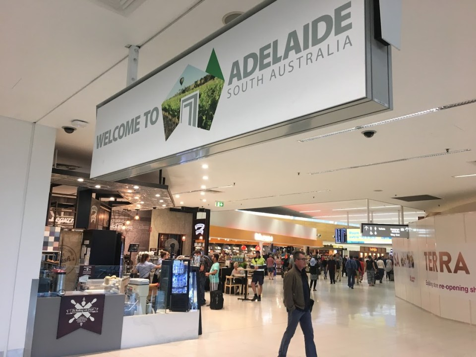 Adelaide Australia airport sign