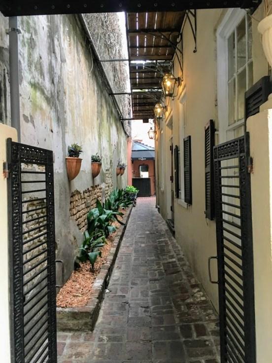 Charleston, South Carolina alleyway