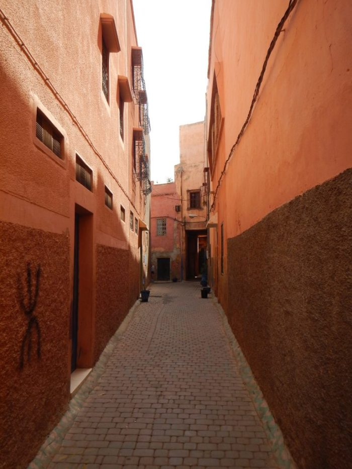 alleyway in marrakech, morocco