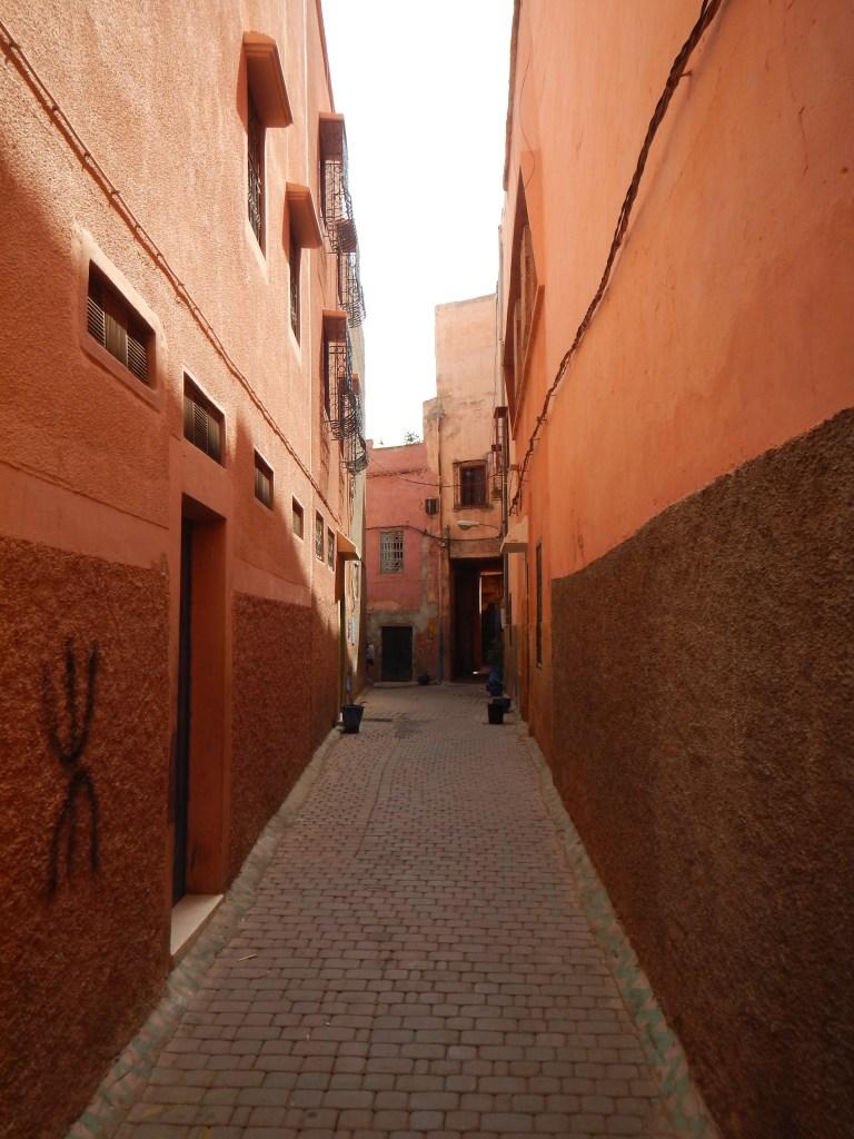 alleyway in marrakech, morocco
